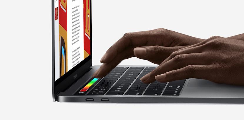 Touch Bar del MacBook Pro