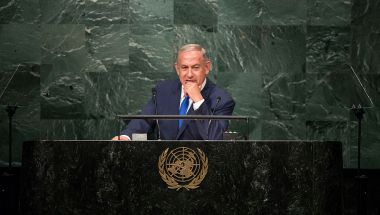 El primer ministro de Israel Benjamin Netanyahu durante un discurso en la Asamblea General de Naciones Unidas en Nueva York el 22 de septiembre de 2016. (Crédito: Drew Angerer/Getty Images/ Imagen de archivo)