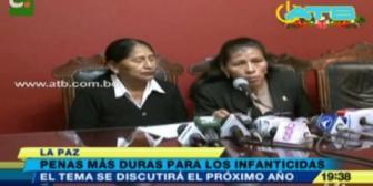 Piden endurecer la pena para infanticidas en Bolivia
