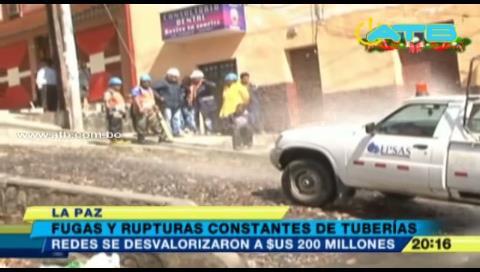 Samapa señala que las redes de agua en La Paz se desvalorizaron