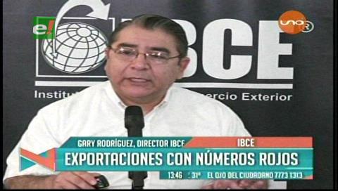 IBCE: La exportaciones están con números rojos
