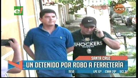Un detenido por robo de mercadería en una Ferretería