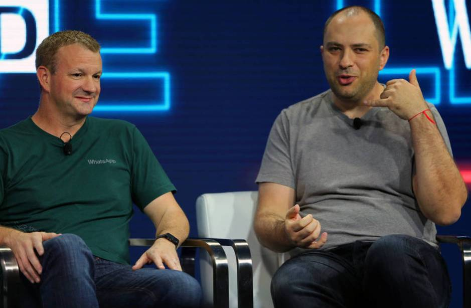 Brian Acton y Jan Koum, cofundadores de WhatsApp. (Reuters)