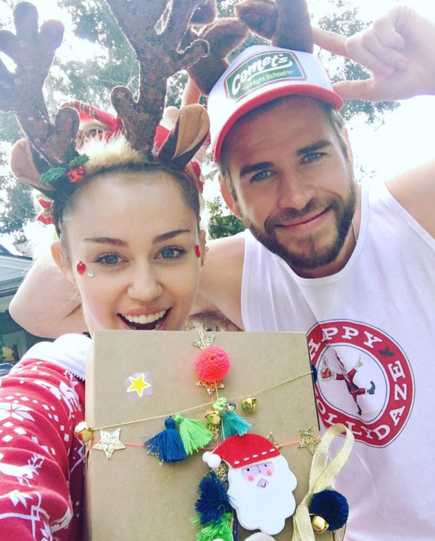 Miley Cyrus, Liam Hemsworth, Christmas