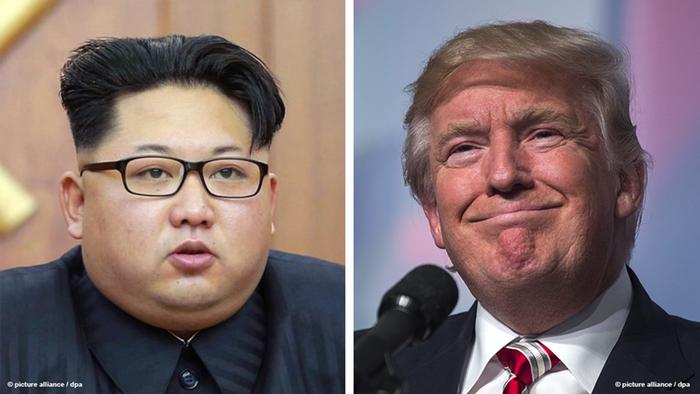 Kombi-Bild Kim Jong Un Donald Trump