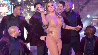 Mariah Carey, durante el evento de Año Nuevo en Times Square. (Eugene Gologursky/Getty Images for TOSHIBA CORPORATION)