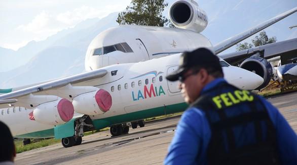 Los aviones de la aerolínea LaMia en el hangar de la Fuerza Aérea Boliviana (FAB), en Cochabamba. Foto: Daniel James -   ,  Periodista Invitado