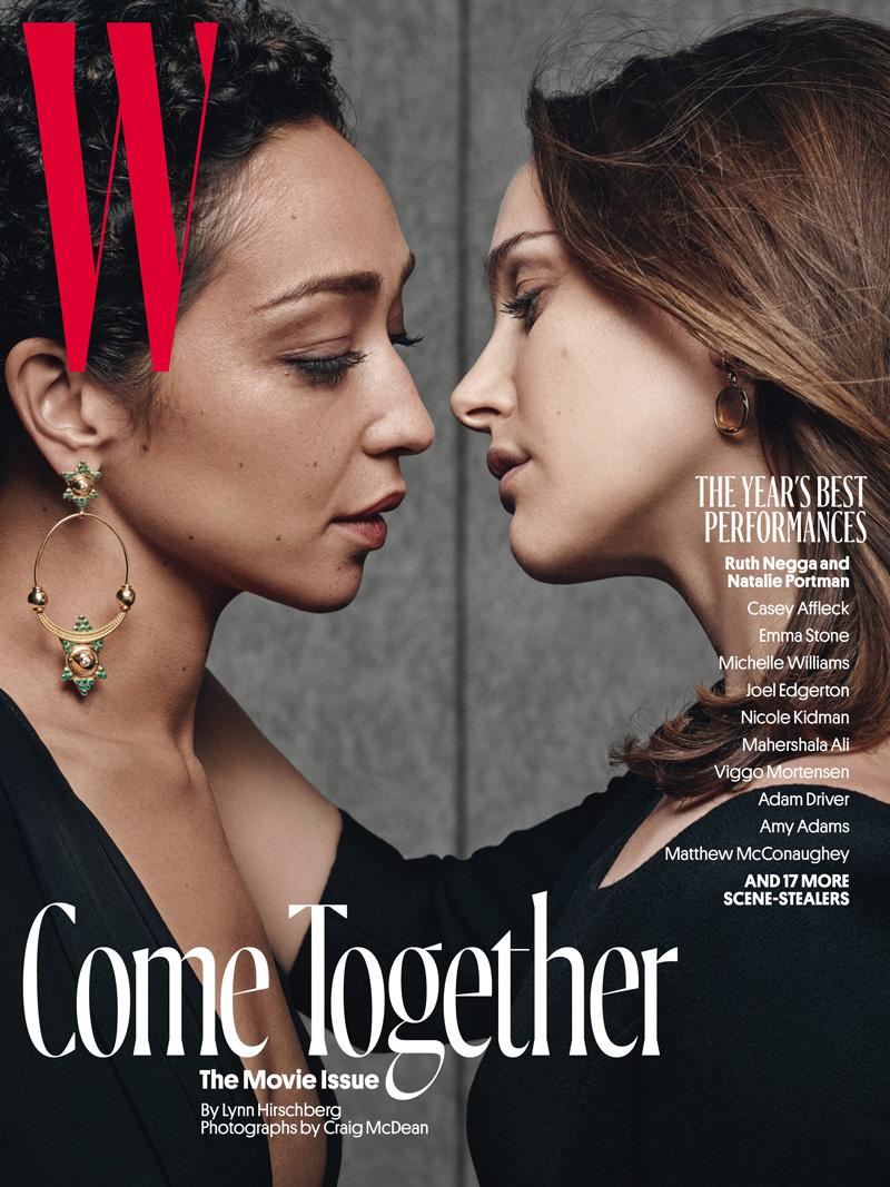 La revista W ha fotografiado así a Natalie Portman y Ruth Negga en su última portada.