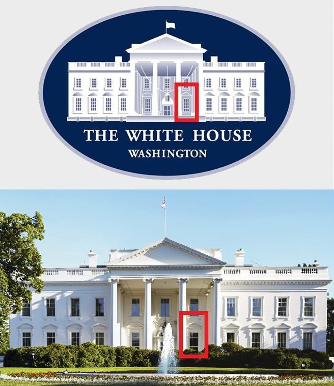 Este logo, usado en el último discurso de Michelle Obama, tiene el fallo en el centro