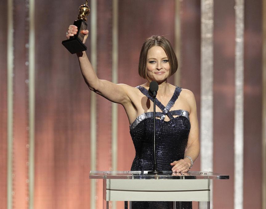 Jodie Foster, en los Globos de Oro de 2013.