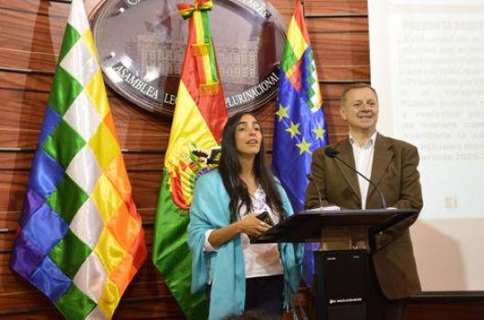 La diputada Gabriela Montaño y el senador José Alberto Gonzales, ambos del MAS y presidentes de sus cámaras.