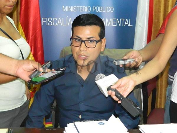 Gilbert Muñoz Ortiz, fiscal departamental de Tarija, quien aseguró que los padres fueron imputados por el delito de infanticidio.