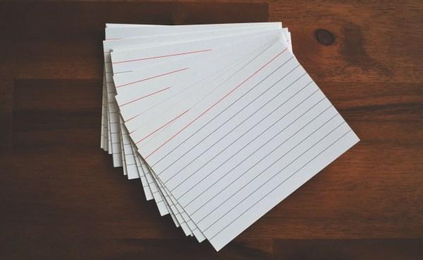 Las tarjetas para memorizar, el método más práctico para estudiar