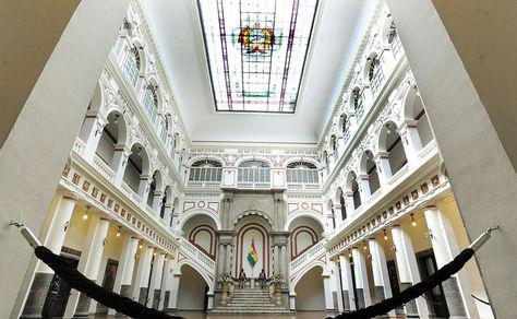 Interior de Palacio de Gobierno. Foto: La Razón