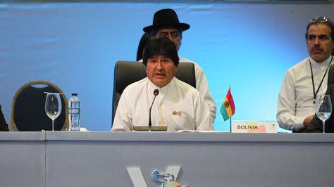 Morales durante su participación en la cumbre de la Celac, en Punta Cana, República Dominicana, el miércoles.
