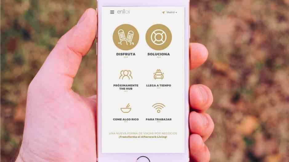 Interfaz de la aplicación en un dispositivo móvil