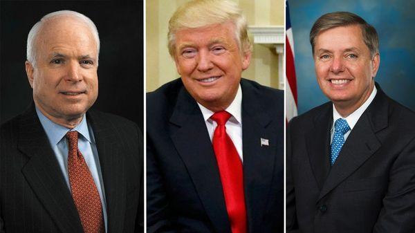 Donald Trump respondió a las críticas de John McCain y Lindesy Graham