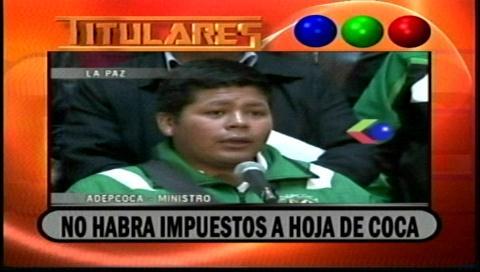Video titulares de noticias de TV – Bolivia, noche del viernes 13 de enero de 2017