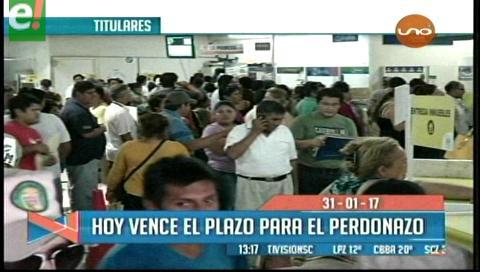 Video titulares de noticias de TV – Bolivia, mediodía del martes 31 de enero de 2017