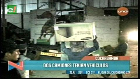 Incautan 43 camiones con mercadería de contrabando