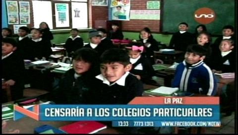 Ministro de Educación anuncia censo de unidades educativas privadas