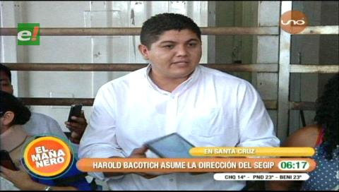 Bacotich asume la dirección del Segip en Santa Cruz