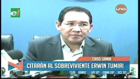 Caso LaMia: Citarán a declarar al sobreviviente Edwin Tumiri