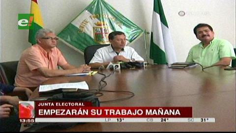 Santa Cruz: Presentan a la Junta Electoral para las elecciones cívicas