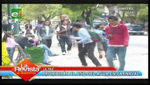 Ordenanza prohibirá el uso de agua y espuma en La Paz durante el carnaval