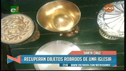Recuperan objetos robados de una iglesia