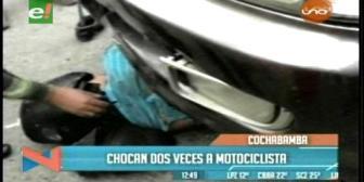 Cochabamba: Motociclista muere tras ser atropellado por dos vehículos