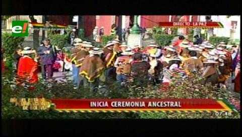 Ritual ancestral abre programa de conmemoración de la fundación del Estado Plurinacional