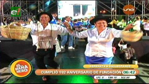 Vallegrandinos festejan a lo grande sus 192 años