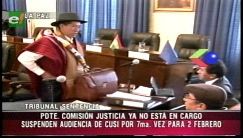 Suspenden por séptima vez juicio contra Cusi