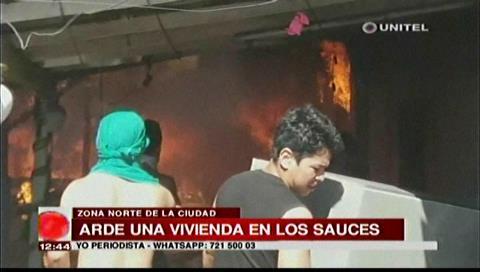 Ocho familias afectadas tras incendio en una vivienda en el barrio Los Sauces