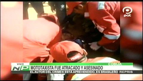 Cobija: Brasileño disparó a su víctima para robarle su motocicleta