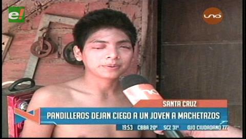 Pandilleros dejan ciego a un joven a machetazos