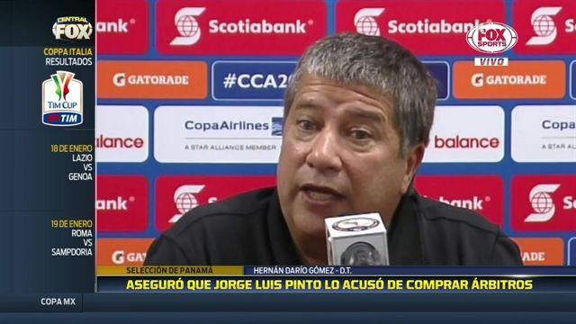 """La causa de los empujones entre """"Bolillo"""" Gómez y Jorge Luis Pinto"""