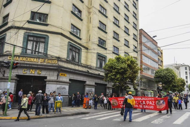 Movilización de la CNS en La Paz. (APG)