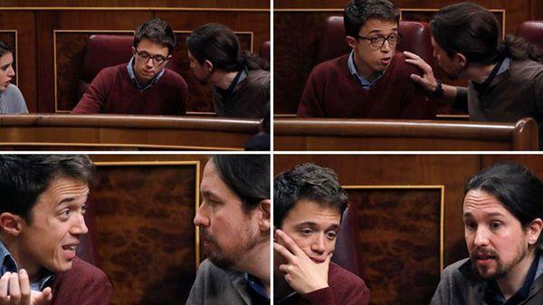 La pelea entre Pablo Iglesias y Íñigo Errejón en imágenes
