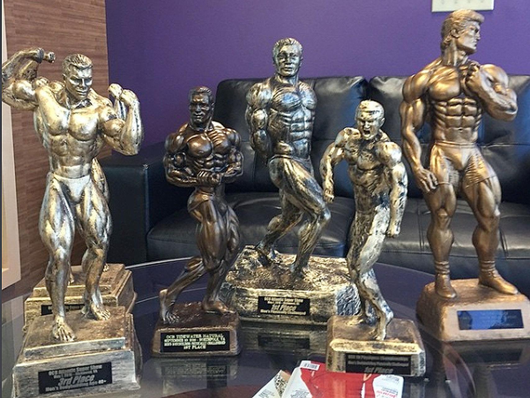 Los trofeos que Steve ha conquistado en los últimos años.