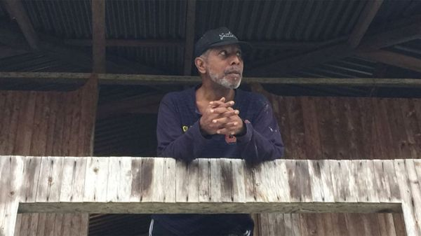Odín Sánchez, minutos antes de ser liberado por el ELN