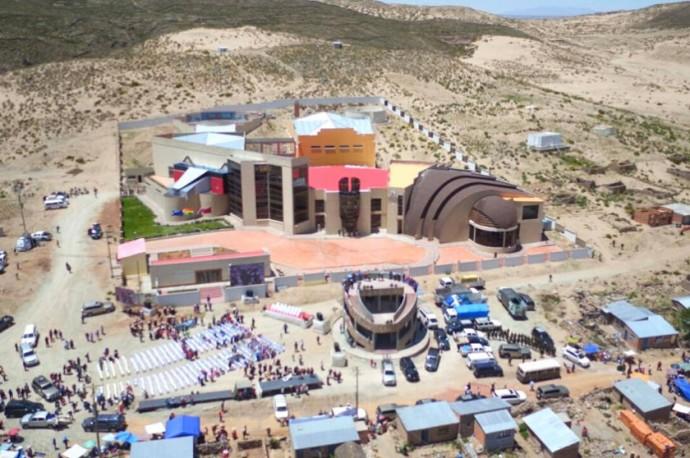 Vista aerea del museo de Orinoca. Foto: Gentileza