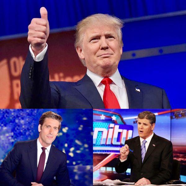 David Muir, el anfitrión del noticiero central de la cadena de televisión por aire ABC, y Sean Hannity, de Fox News, fueron los periodistas beneficiados con la primera y segunda entrevista otorgada por el presidente Trump desde su asunción