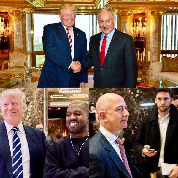 El premier israelí Benjamin Netanyahu, el rapero Kanye West y el empresario ligado al comercio online y los medios de comunicación Jeff Bezos son sólo algunos de los referentes de la política, los negocios y el entretenimiento que pasaron por la torre Trump desde la victoria del republicano