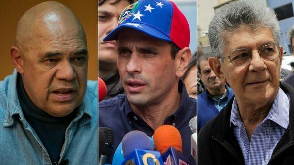 Jesús Torrealba, Henrique Capriles y Henry Ramos Allup, principales figuras opositoras