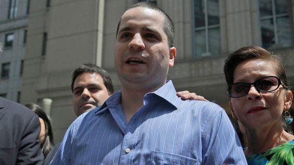 Gilberto Valle al quedar en libertad en 2012 (AP)