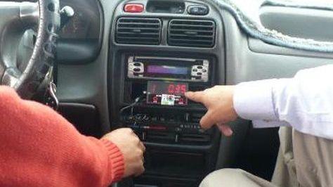 Taxímetro en un vehículos