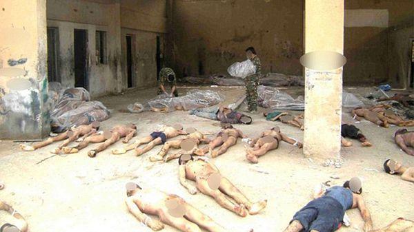 Cadáveres golpeados y desnutridos en un hospital militar en Siria (Getty)