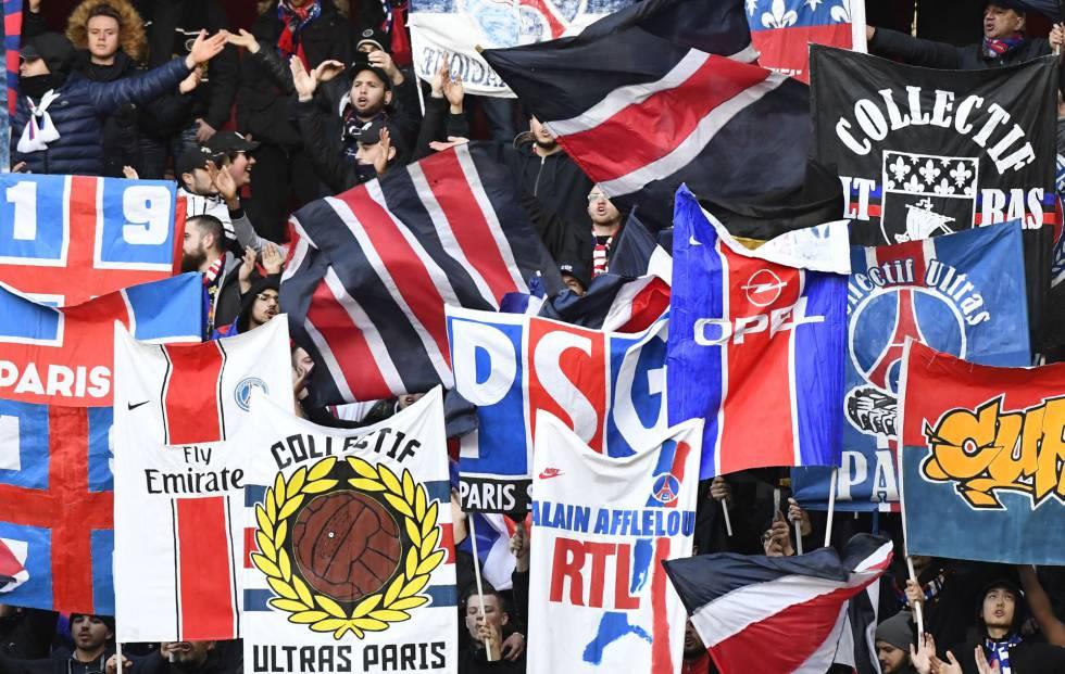 Aficionados del PSG en el partido contra el Rennes, el 14 de enero.